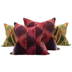 Set of Four Early 20th Century Indonesian Ikat Pillows