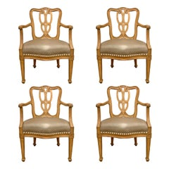Set of Four Early 20th Century Italian Armchairs