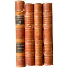 Set of Four Early 20th Century Ledgers, circa 1902-1912