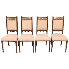 Set of Four Early 20th Century Oak Arts & Crafts Dining Chairs