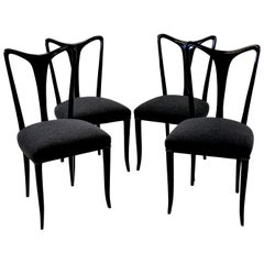 Set of Four Ebonized Ulrich Dining Chairs