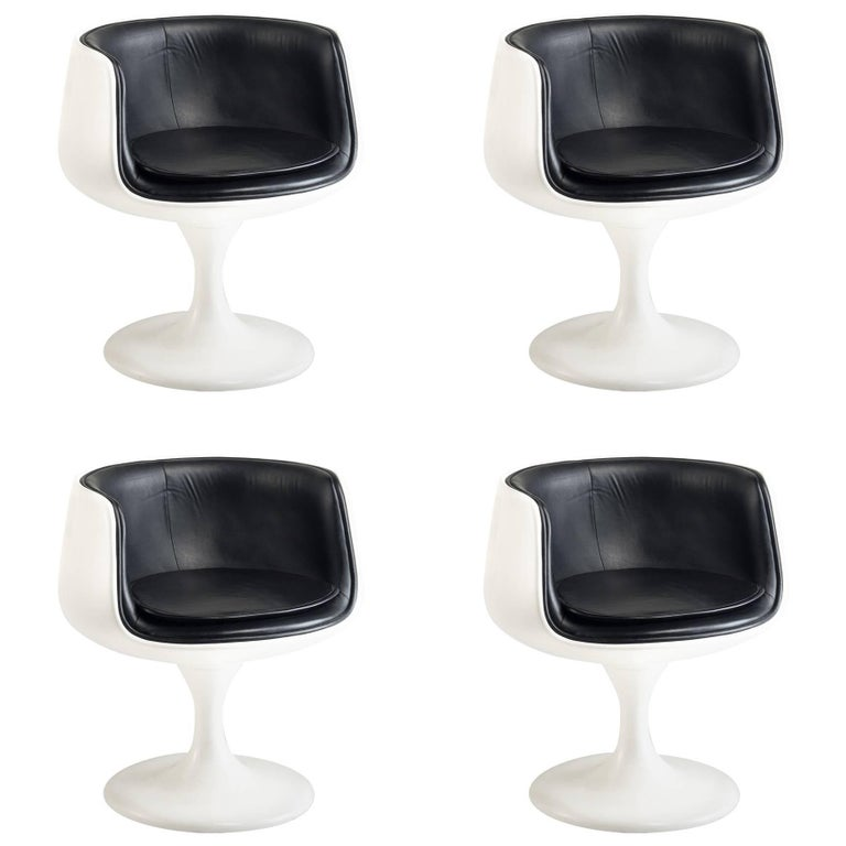 Set of (4) Eero Aarnio Style Dining Chairs, Finland, circa 1960 For Sale