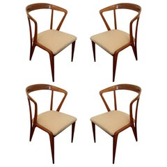 Set of Four/ Eight Bertha Schaefer Dining Chairs Italian Mid Century