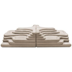 "Set of Four Elements ""Terrazza Landscape"" Ds-1025 by Ubald Klug for De Sede"