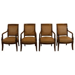 Set of Four Empire Period Mahogany Armchairs