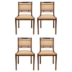 Set of Four English Late 19th Century Regency Style Mahogany Dining Chairs