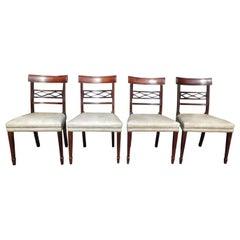 Set of Four English Regency Mahogany Dining Room Chairs, Circa 1810