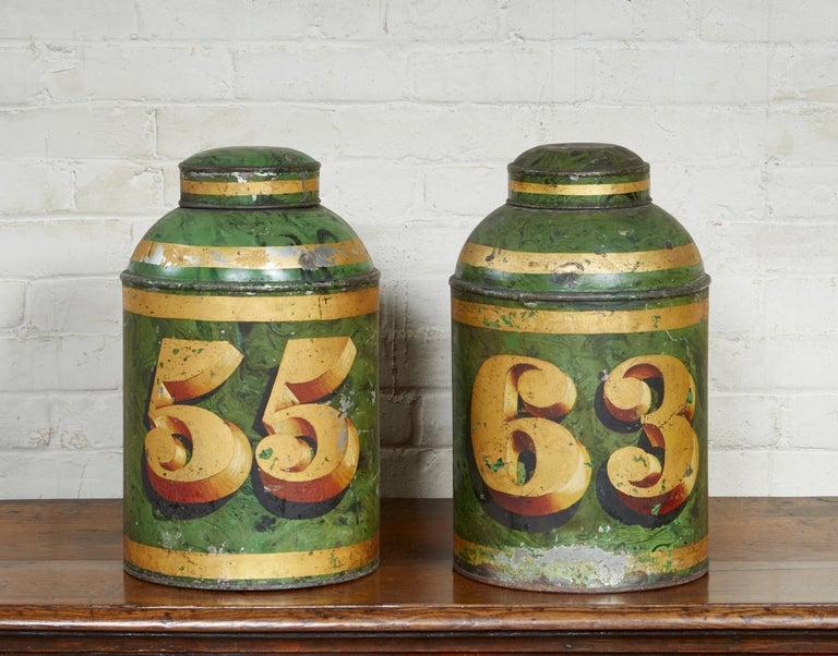 Set of Four English Tea Tins For Sale 6