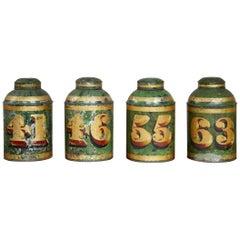Set of Four English Tea Tins