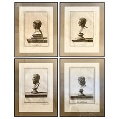 "Set of Four Engravings of ""Antique Bust"", 18th Century"