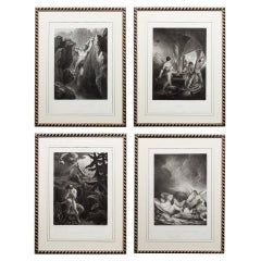 Set of Four Engravings of Milton's Lost Paradise