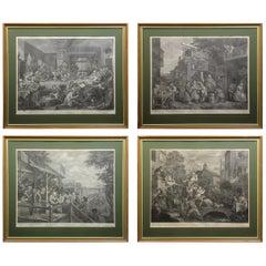 Set of Four Engravings William Hogarth
