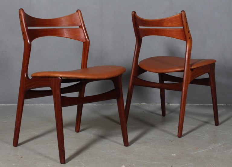 Danish Set of Four Erik Buch Chairs For Sale
