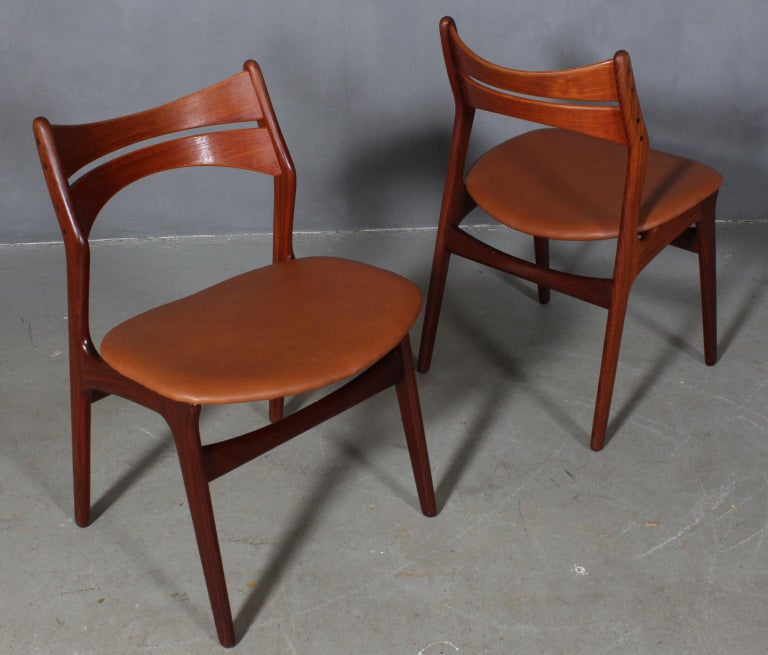 Set of Four Erik Buch Chairs In Good Condition For Sale In Esbjerg, DK