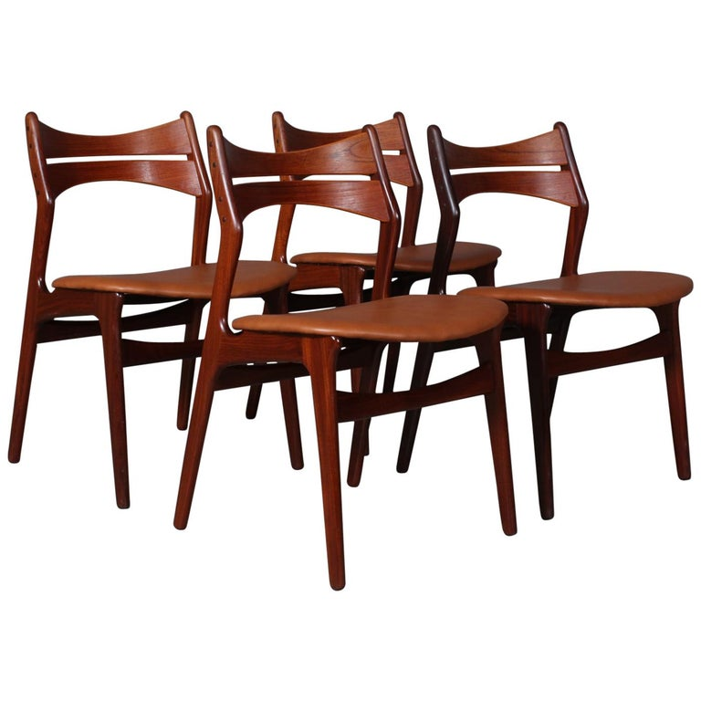 Set of Four Erik Buch Chairs For Sale