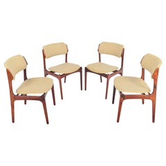 Set of Four Erik Buch Model 49 Danish Modern Dining Chairs in Rosewood