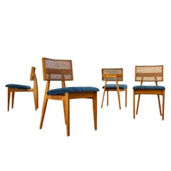 Set of Four Ernest Farmer Midcentury Dining Chairs for George Nelson Associates
