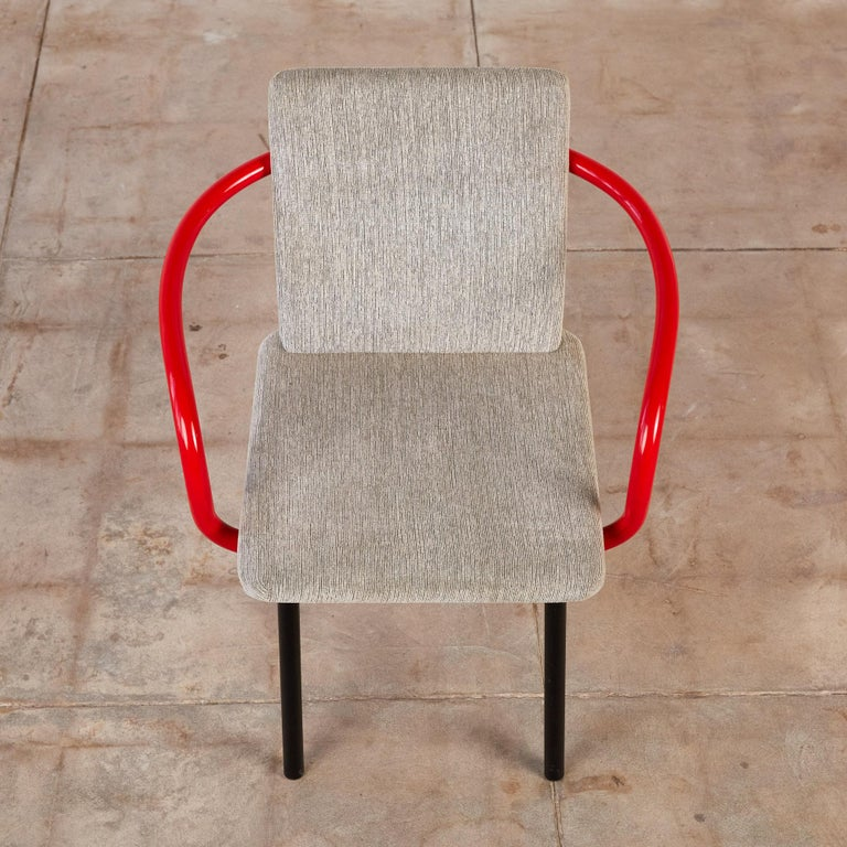 Set of Four Ettore Sottsass for Knoll Mandarin Chairs For Sale 5