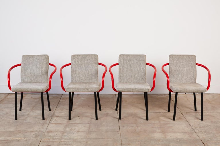 Mid-Century Modern Set of Four Ettore Sottsass for Knoll Mandarin Chairs For Sale