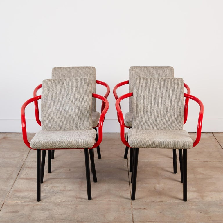 American Set of Four Ettore Sottsass for Knoll Mandarin Chairs For Sale