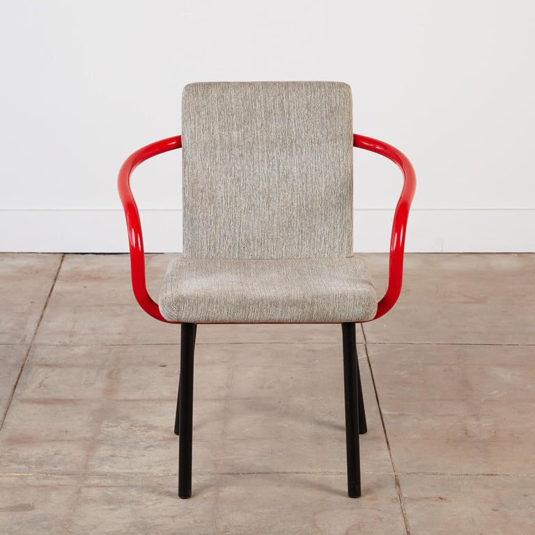 Late 20th Century Set of Four Ettore Sottsass for Knoll Mandarin Chairs For Sale