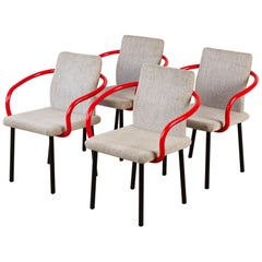 Set of Four Ettore Sottsass for Knoll Mandarin Chairs