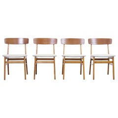 Set of Four Farstrup Danish Design Dining Chairs in the Style of Borge Mogensen