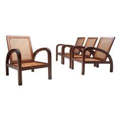 """Set of Four """"Fauteuils de Paquebot"""" Chairs, France, 1950s"""