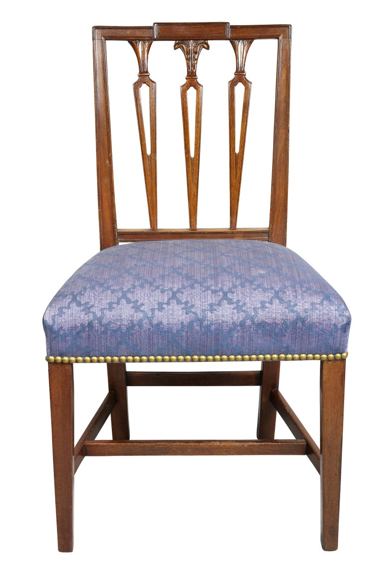 American Set of Four Federal Mahogany Side Chairs For Sale