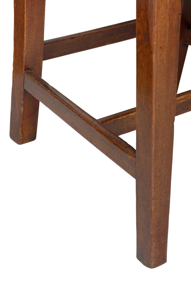 Set of Four Federal Mahogany Side Chairs For Sale 1