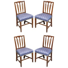 Set of Four Federal Mahogany Side Chairs