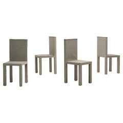 Set of Four Felt Chairs by Reed and Delphine Krakoff