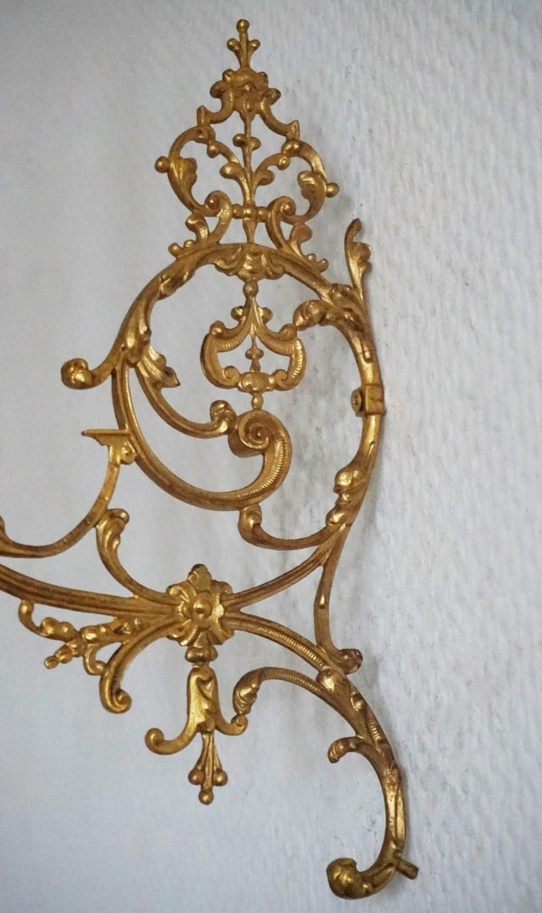 Set of Four Fine French Louis XVI Period Gold Doré Bronze Sconces, Candleholders For Sale 4