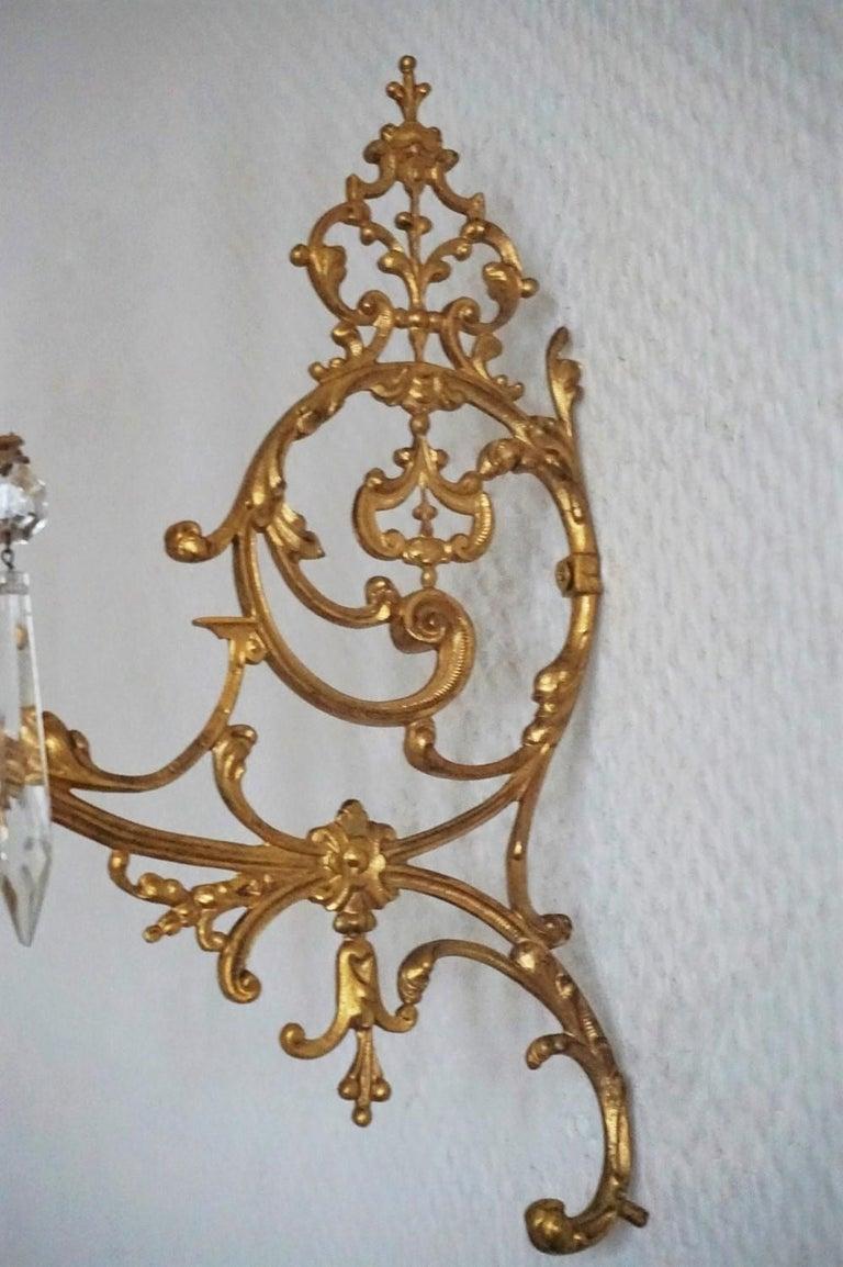 Set of Four Fine French Louis XVI Period Gold Doré Bronze Sconces, Candleholders For Sale 3