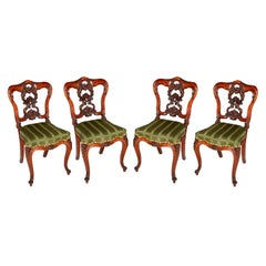 Set of Four Fine Quality Victorian Side Chairs, circa 1880