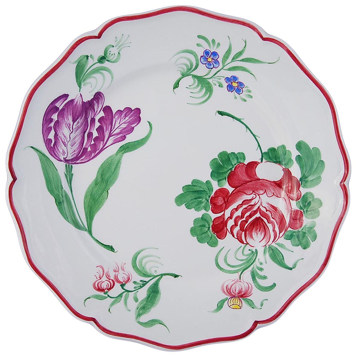 Set of Four Fiori Ceramic Plates