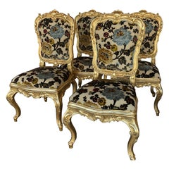 Set of Four Florentane Guilt Chairs
