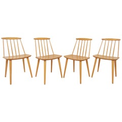 Set of Four Folke Palsson for Fdb Mobler, Denmark Dining Chairs, circa 1975