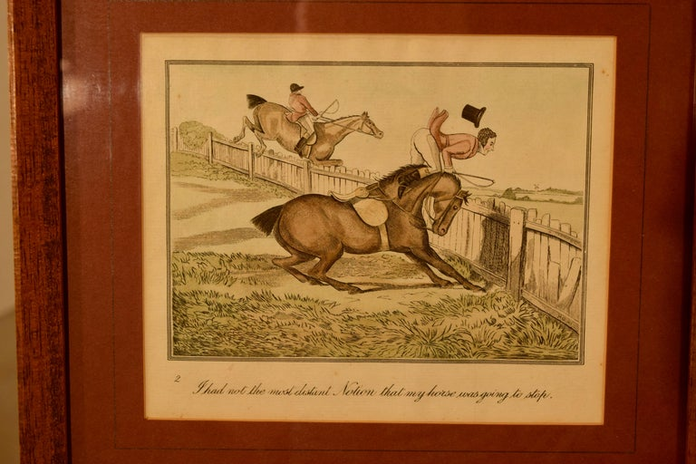 Victorian Set of Four Framed Equestrian Engravings