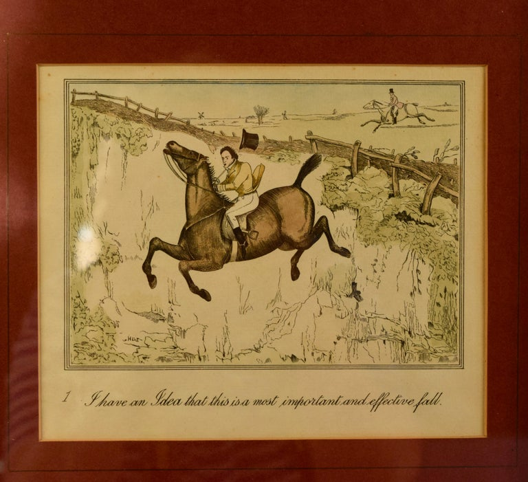 English Set of Four Framed Equestrian Engravings