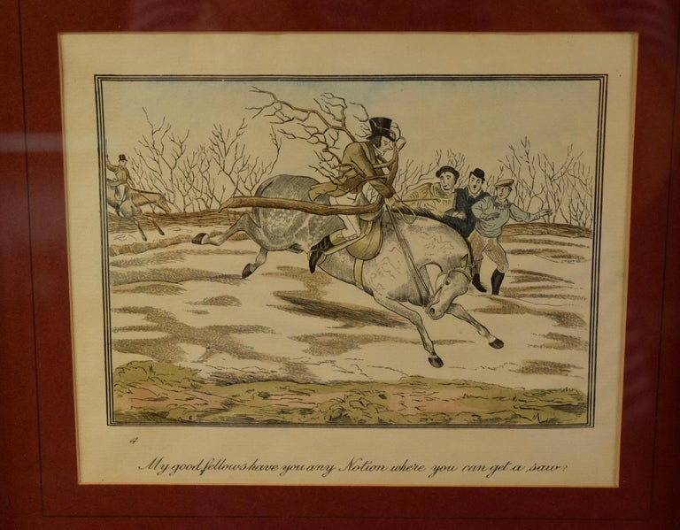 19th Century Set of Four Framed Equestrian Engravings