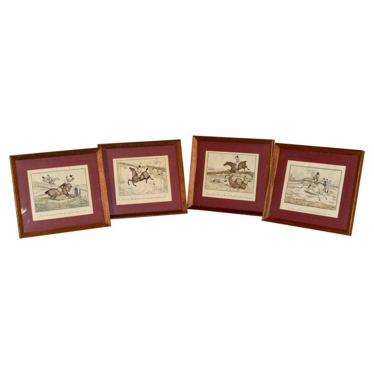 Set of Four Framed Equestrian Engravings