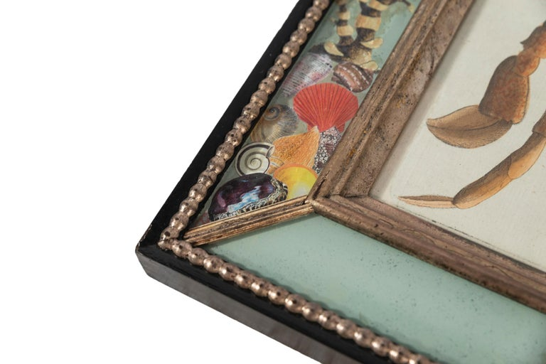 Set of Four Frames, Glass and Silvered Wood, circa 1970, France For Sale 5