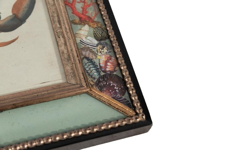 Set of Four Frames, Glass and Silvered Wood, circa 1970, France For Sale 7