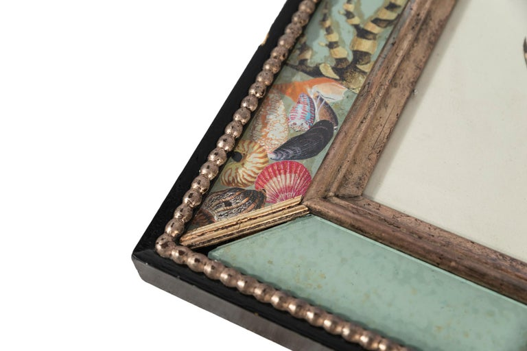 Set of Four Frames, Glass and Silvered Wood, circa 1970, France For Sale 9