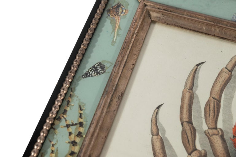 Set of Four Frames, Glass and Silvered Wood, circa 1970, France For Sale 11