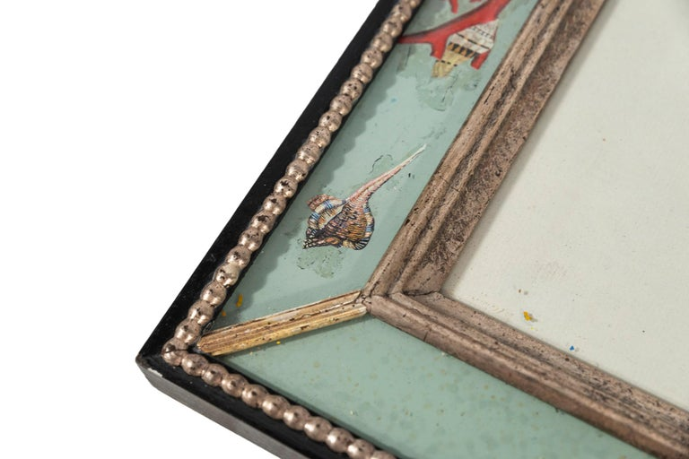 Set of Four Frames, Glass and Silvered Wood, circa 1970, France For Sale 13