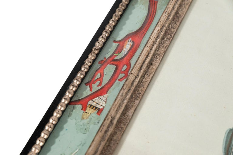 Set of Four Frames, Glass and Silvered Wood, circa 1970, France For Sale 14
