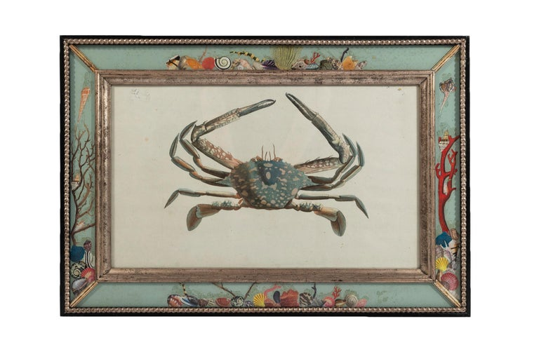 Set of Four Frames, Glass and Silvered Wood, circa 1970, France In Good Condition For Sale In Nice, Cote d' Azur