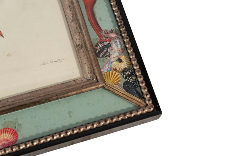 Set of Four Frames, Glass and Silvered Wood, circa 1970, France For Sale 2